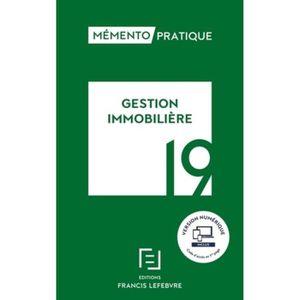 LIVRE GESTION Gestion immobilière. Edition 2019