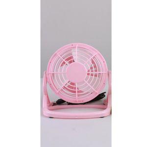 VENTILATEUR Mini ventilateur plastique bureau rose connexion U
