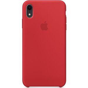 apple coque en silicone pour iphone xr rouge