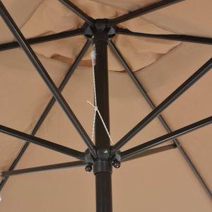 PARASOL Magnifique vidaXL Parasol avec mat en metal 300 x