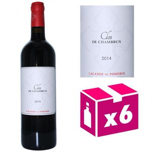 VIN ROUGE 6 bouteilles Clos de Chambrun - Lalande de Pomerol