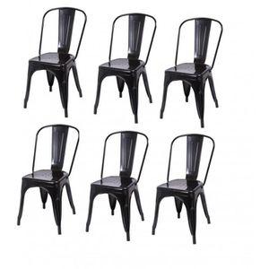 CHAISE Lot de 6 chaises de salle à manger style industrie