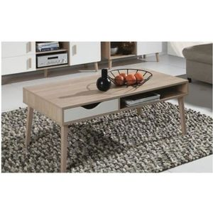 TABLE BASSE Table basse OSLO. Meuble type scandinave. Blanc