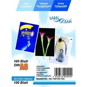PAPIER PHOTO LabelOcean - 100 Feuilles Papier Photo A6 105x148m