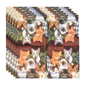 20/serviettes Motif chat dans panier//Animaux//Animaux Jolie 33/x 33/cm