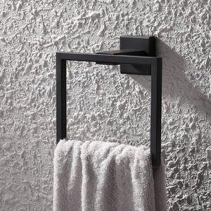 Homovater Porte Rouleau Papier Toilette 304 Acier Inoxydable M/étal Noir supports de conception Porte-papier Noir fix/é au mur.