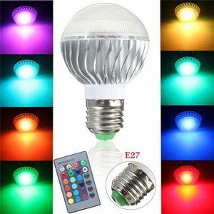 AMPOULE - LED E27 15W RGB LED Ampoule Lampe Couleur Changement S