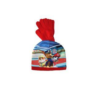 BONNET - CAGOULE ensemble bonnet gants pat patrouille rouge