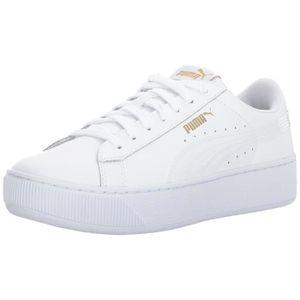 Puma Vikky Plate forme Sneaker en cuir GJ2TW Taille 40 1 2