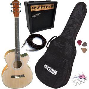PACK INSTRUMENTS CORDES Pack Guitare Électro-Acoustique Jumbo Nature Mat 5