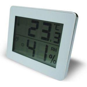 THERMOMÈTRE - BAROMÈTRE Thermomètre Hygromètre avec écran LCD BLANC Oti…