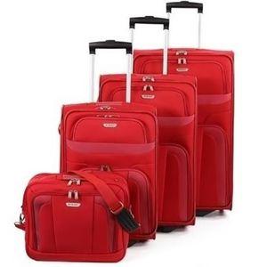 SET DE VALISES Set 3 valises + vanity 8 roues pivotant ROUGE