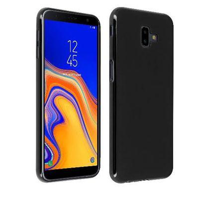 N&T Coque Samsung Galaxy J6 Plus 2018 Gel Noir Protection Souple Fin en TPU pour Etui Housse Samsung Galaxy J6 Plus 2018