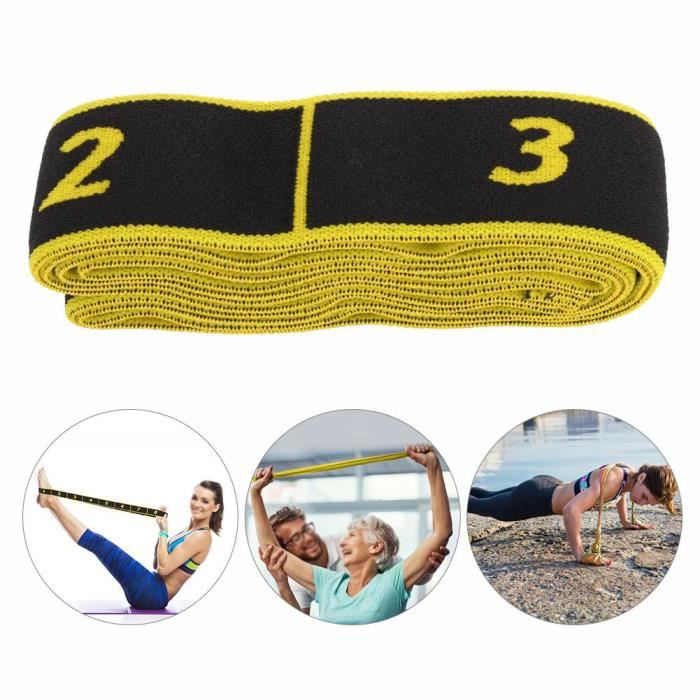 Fitness Elastic Bands Resistance Belt Yoga Sling Accessoire d'exercice pour la formation (jaune)-SPR