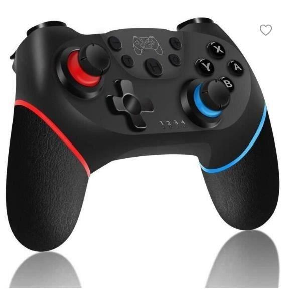 Manette sans fil pour Nintendo Switch, Bluetooth Manette Switch Pro, Switch controller avec Batterie Rechargeable-Turbo-6-Axis