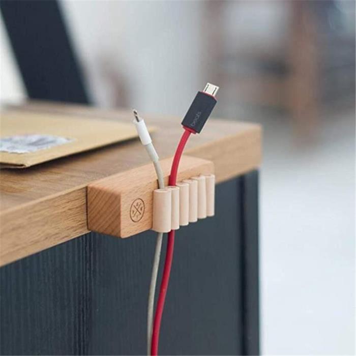 Étagères de stockage à la maison, câble en bois de fixateur de fil de bureau de supports de meubles de bureau - HANCHUN 1846