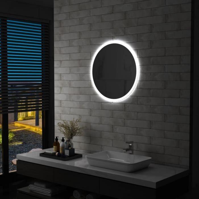 MEUBLE® Miroir à LED - Design Moderne - Miroir pour Salle de bain 60 cm ♕9887