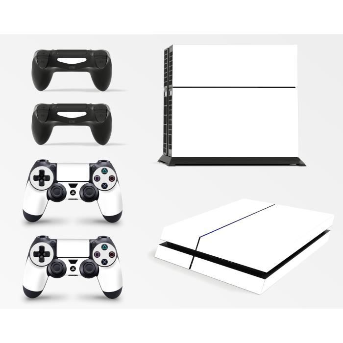 GNG PS4 Console White Colour Skin Decal Vinal Sticker + 2 Controller Skins Set
