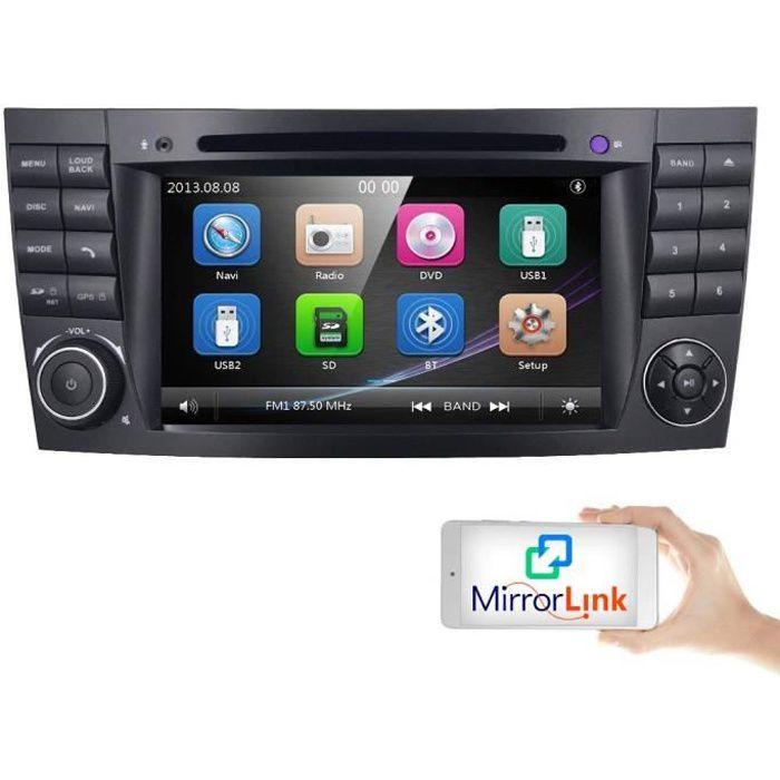 Voiture GPS DVD USB SD Bluetooth Autoradio 2 DIN Navi pour Mercedes-Benz W211 W219