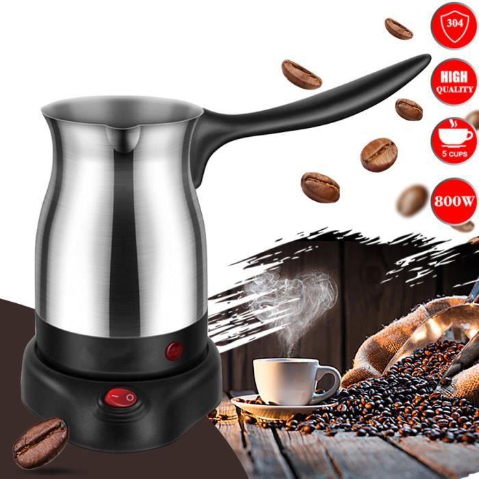 304 machine à café en acier inoxydable machine à café électrique turque machine à café au lait cafetière pour cadeaux 220 V