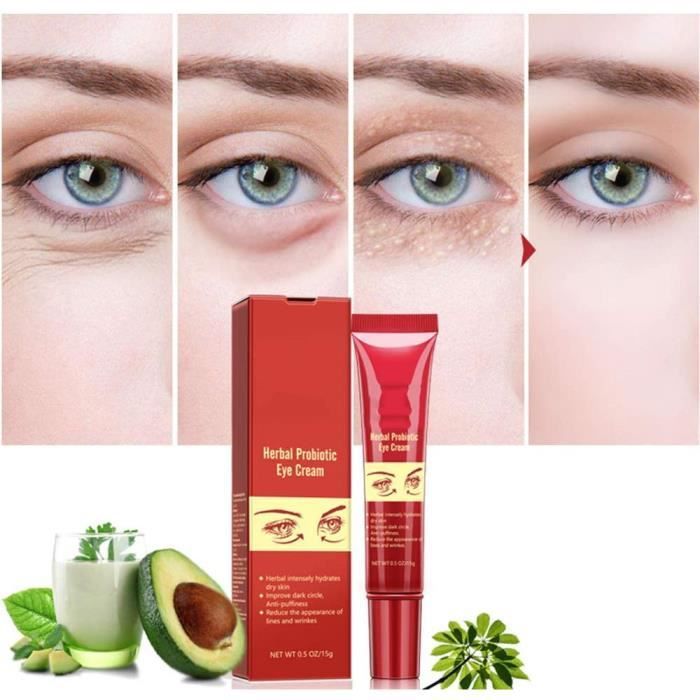 CONTOUR DES YEUX 2Pcs 15g Herbal Probiotic Eye Cream Peptide Collagen Eye Cream Anti-Wrinkle Anti-aging Hydrate Dry Skin Remover310