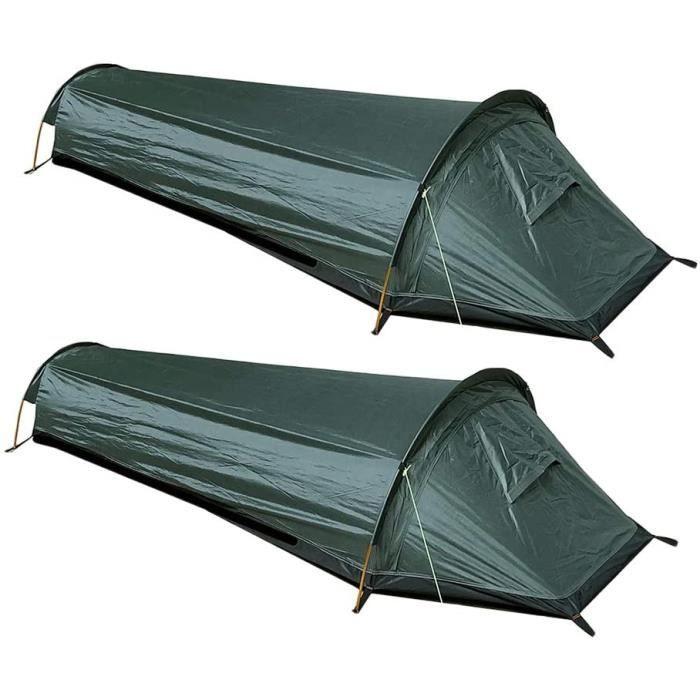 freneci 2X Tente de randonnée 1 Personne Ultra-légère 0.69kg,Sac de Couchage Adulte, Compact de Camping, Randonnée et Activités A269