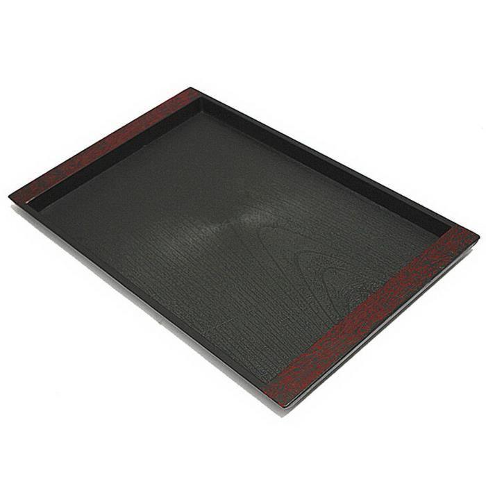 Thé Imitation Grain Bois Plastique Plateau rectangulaire Plateau décoratif Plate