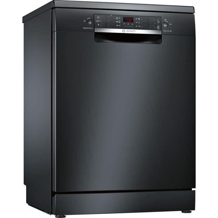 Lave-vaisselle pose libre BOSCH SMS46JB17E Série 4 - 13 couverts - Largeur 60 cm - 44 dB - Noir