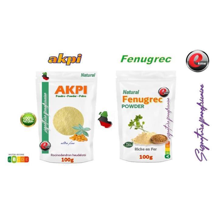 DUO de poudres Akpi + Poudre De Fenugrec - sélection panafricaine - 2X100g