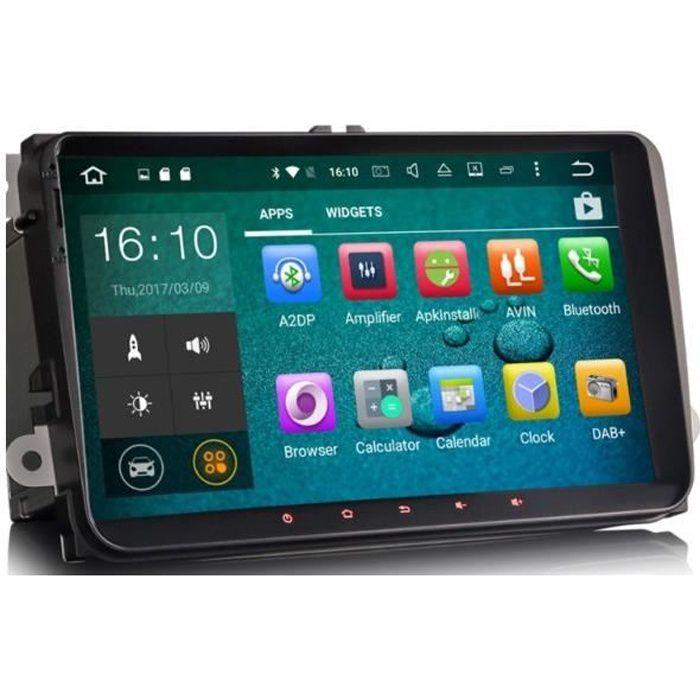 Poste Android écran tactile 9' Volkswagen Golf 5, 6, Beetle, Eos, Touran, T5, Tiguan, Polo, Caddy..
