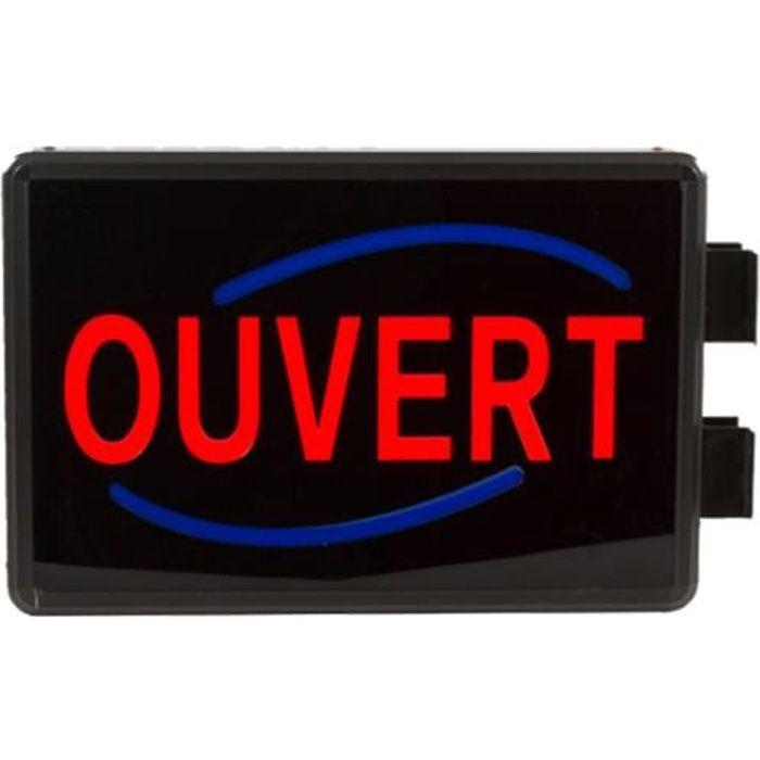 Enseigne lumineuse LED extérieur OUVERT