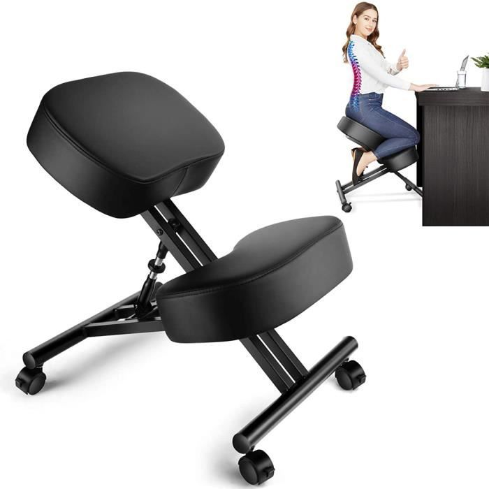 JEOBEST® Tabouret ergonomique noir/noir Tabouret orthopédique posturale