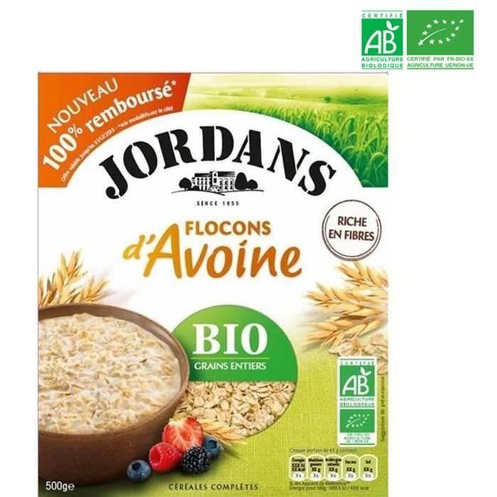 Flocons d'avoine bio 500 g Jordans