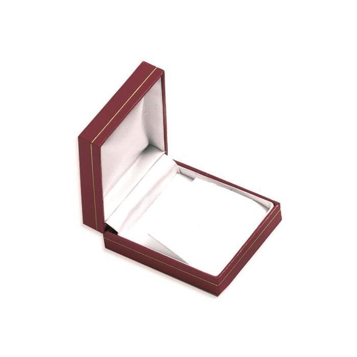 Les Plaisirs de Stella Ecrin Boucles d'Oreilles - Rouge - Boite Cadeau Bijoux Imitation Cuir