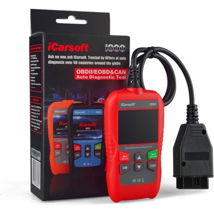 VALISE INTERFACE iCarsoft i800 VOITURE SCANNER OBD OBD2 DIAGNOSTIC MULTIMARQUE