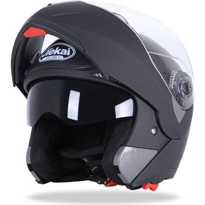 Casque de Moto de marque luxe Casque intégral Double lentille anti-buée Respirant Résistant à l'usure Haute qualité