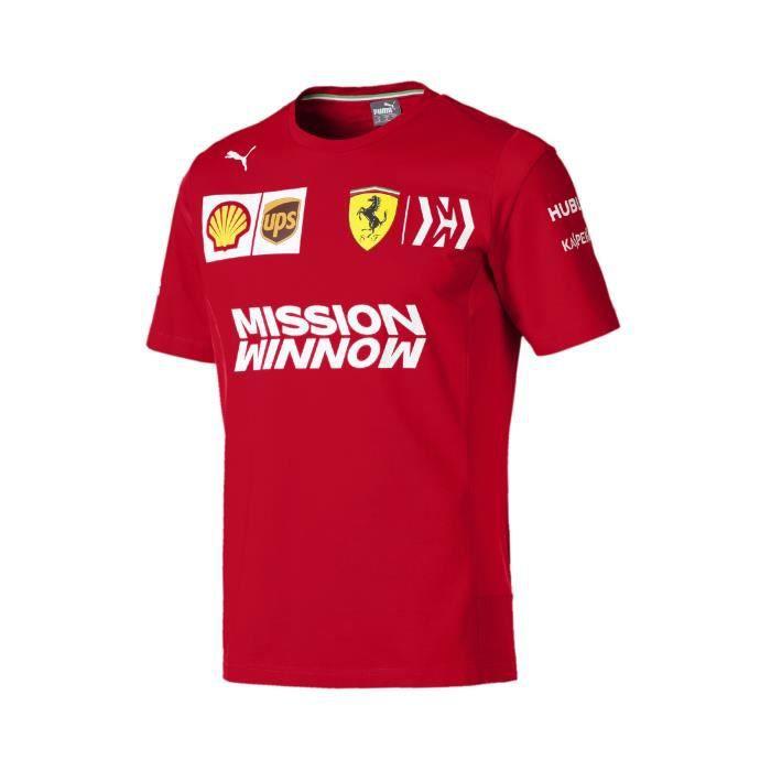T-shirt FERRARI Team 2019 rouge pour homme