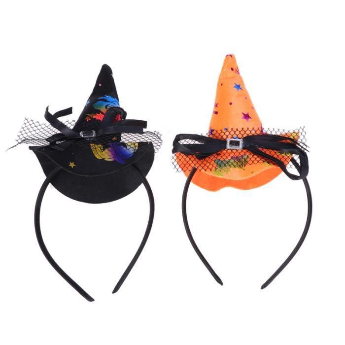2 pièces Halloween sorcière cheveux cerceau créatif fête drôle Costume accessoire MASQUE VISAGE - ACCESSOIRE DEGUISEMENT VISAGE