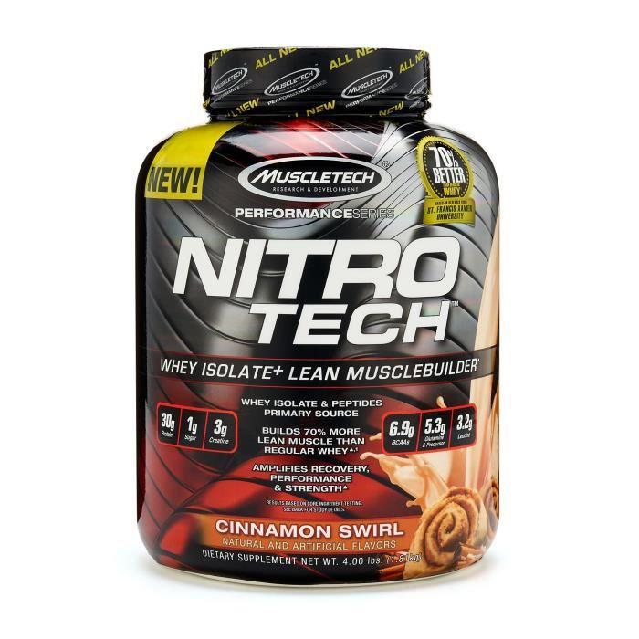 MuscleTech Nitro Tech 1.8kg - Tourbillon de cannelle