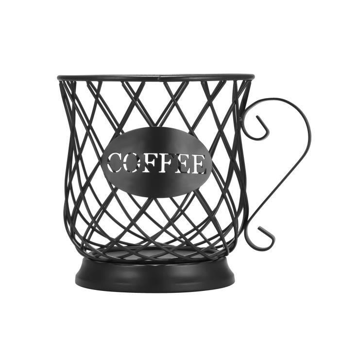Capsule De Rangement Universelle Panier Cafetière Panier Vintage Café Pod Organisateur - Noir