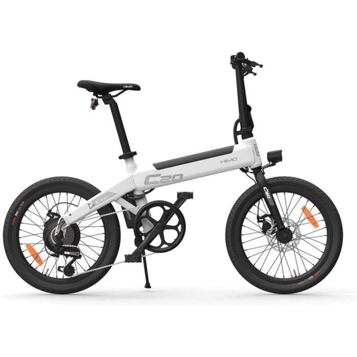 Vélo électrique, HIMO C20 Ebike Pliant léger 250 W Moteur 36 V avec pédale Vitesse maximale 25 km/h Capacité de Charge 100 kg Blanc