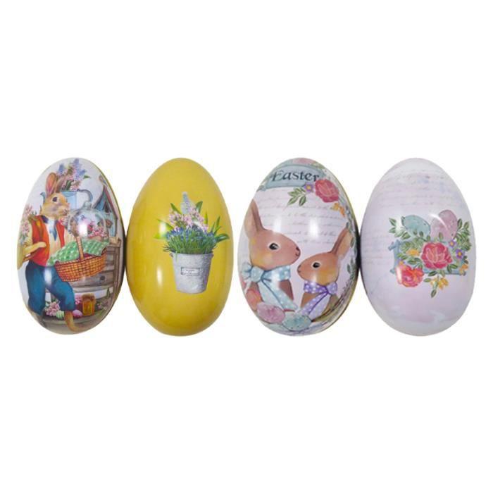4 pcs boîte à bonbons en forme d'oeuf de pâques à bijoux décoratifs boîte-cadeau penne,torti autres pates riz feculents