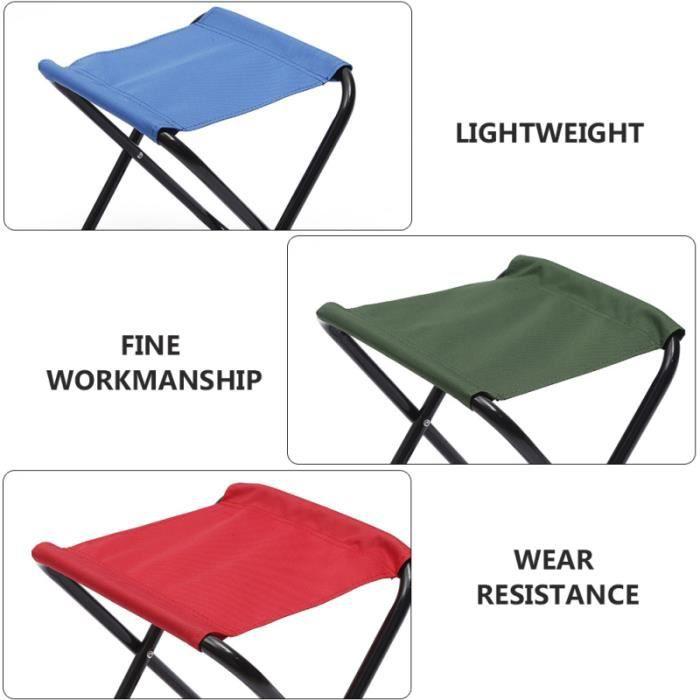 1 PC chaise pliante de ménage tabouret pliant léger en plein air Mini pliable petit polyvalente pour la randonnée Camping plage