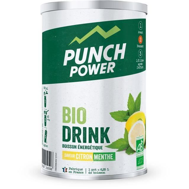 PUNCH POWER BIODRINK CITRON-MENTHE - POT DE 500 G