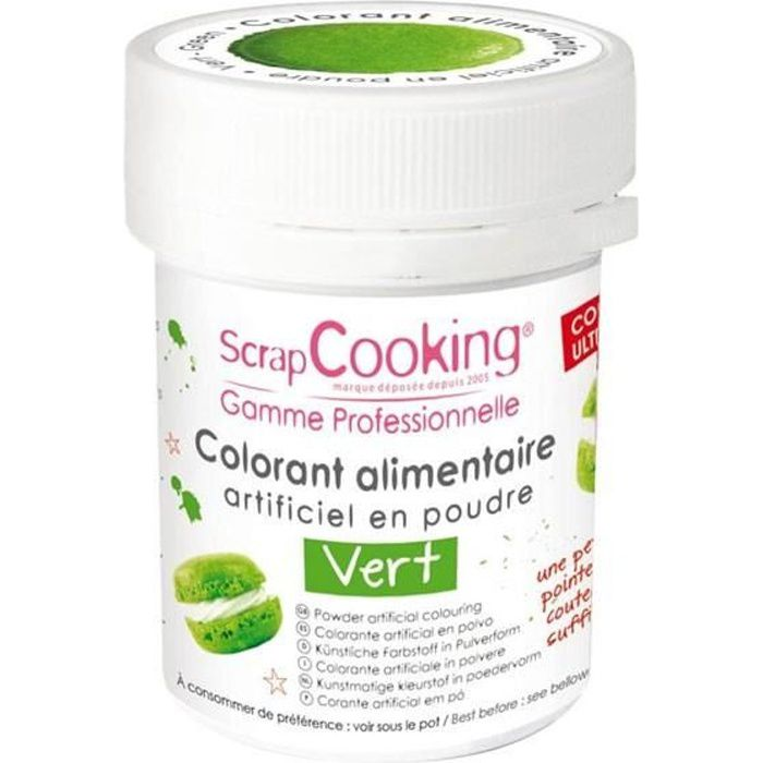 Colorant alimentaire Vert