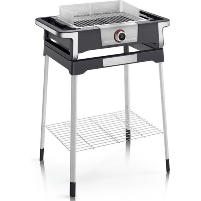 severin - barbecue électrique sur pieds 3000w noir/inox - pg8118