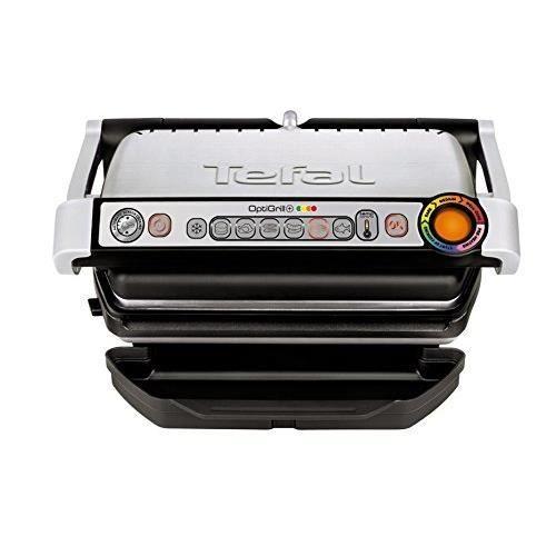 Tefal GC713D40 Grill Electrique en Acier Inoxydable OptiGrill, 2000 W, Silver