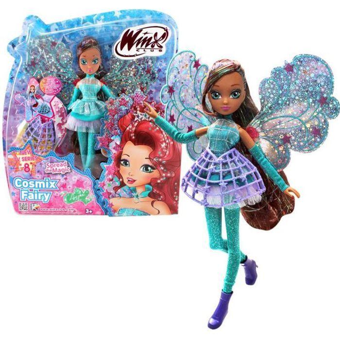 Layla - Cosmix Fairy - Winx Club - Poupée à Ailes Holographiques Mobiles