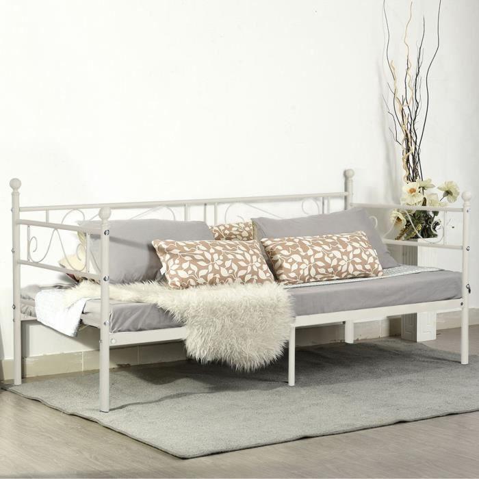aingoo lit banquette cadre de lit en