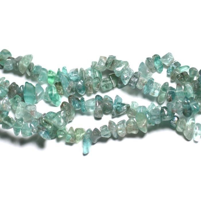 130pc environ Perles Rocailles Chips de Nacre Blanche irisée 5-15mm 45585500